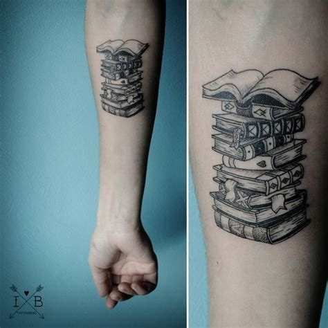 stack of books tattoo books stack by irene bogachuk ib tattooing
