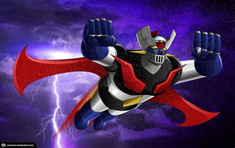imagenes en movimiento de mazinger z mazinger z stormy weather by vectormz on deviantart