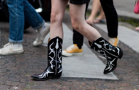 cowboy boots for fashion style how to wear cowboy boots 2018 popsugar fashion