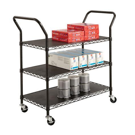råskog utility cart wire utility cart 3 shelves black procura select