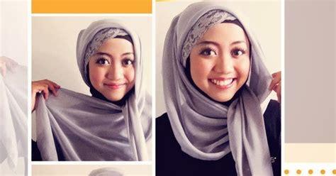 hijab tutorial  memakai jilbab segi empat cantik