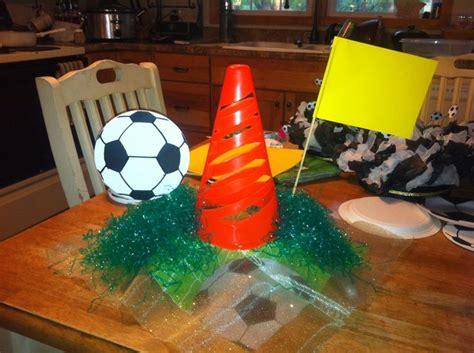 soccer centerpiece soccer banquet decorations