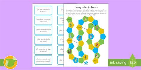 juego preguntas mesa juego de mesa comprensi 243 n lectora juego de mesa leer