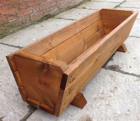 Wooden Plant Pot best 25 large wooden planters ideas on wooden