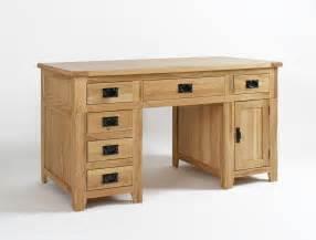 Oak Wood Computer Desk Westbury Reclaimed Oak Pedestal Desk
