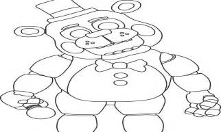 foxy fox five nights free colouring pages