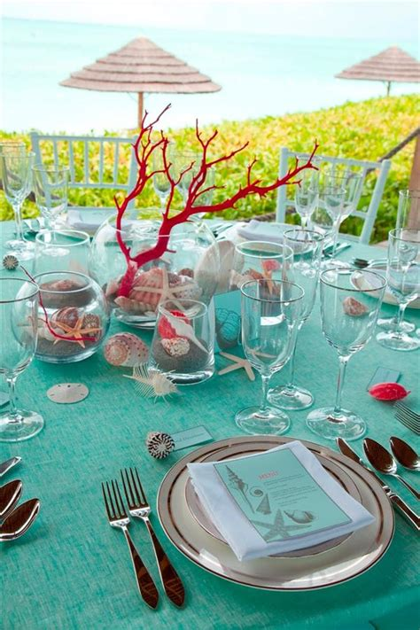 themed table decor sea inspired table setting and ideas for your themed