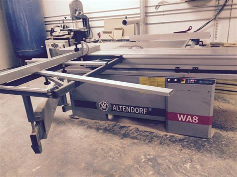 altendorf 10 sliding table panel saw used machine for