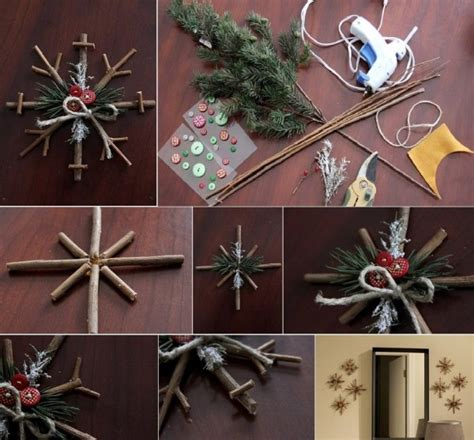 rustic craft projects diy rustic snowflakes find projects to do at
