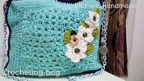 cara membuat tas rajut sederhana cara membuat tas rajut crocheting bag youtube