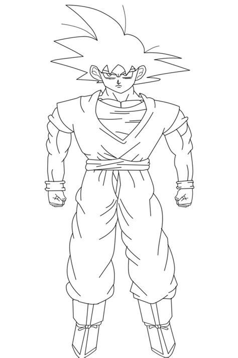 Coloriages à imprimer : Son Goku, numéro : 9650