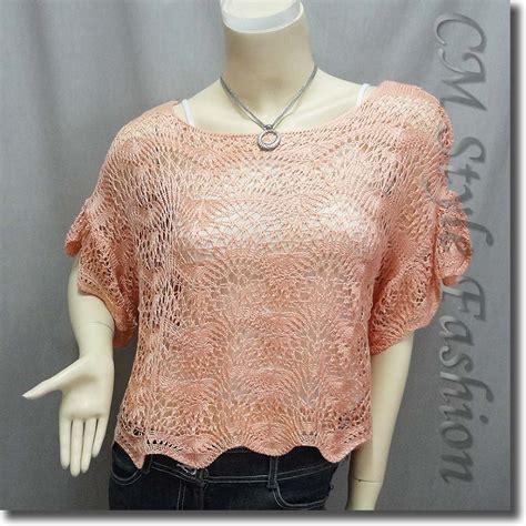 Scallop Knit Top scallop edge knit mesh sweater top white