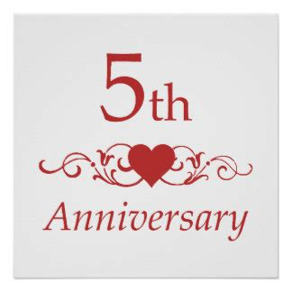 Wedding Anniversary 5th by Gift For 5th Wedding Anniversary 5th Wedding Anniversary