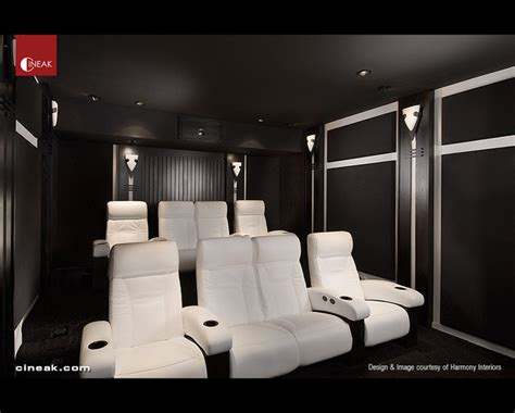 cineak white fortuny seats  home theater modern home