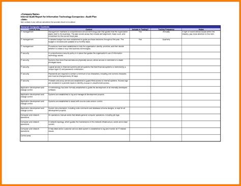 it audit template doc 16601285 it audit report template