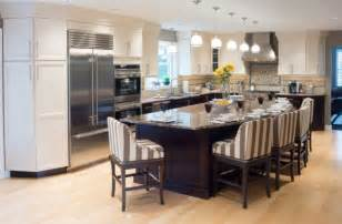 Kitchens With Large Islands 37 Multifunctional Kitchen Islands With Seating