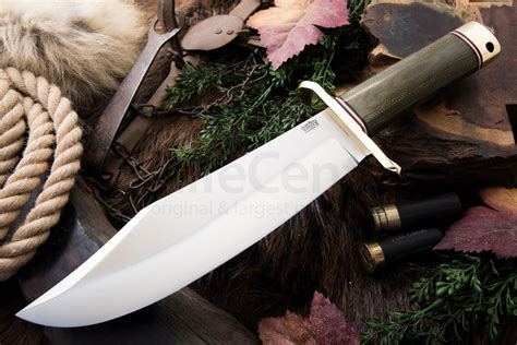 bark river knives v 44 bowie 9 quot a2 tool steel blade green