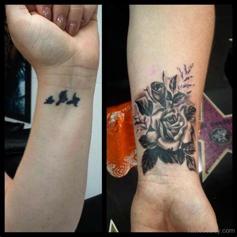 bird and rose tattoo 52 wrist tattoos