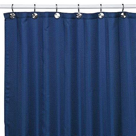 blue cloth shower curtain westerly royal blue fabric shower curtain bed bath beyond