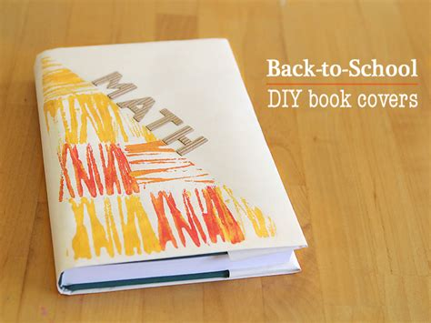 How To Make A Book Jacket Out Of Paper - diy cool book covers