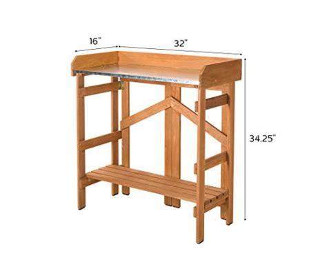 folding potting bench vytal folding potting bench utility table 6cows