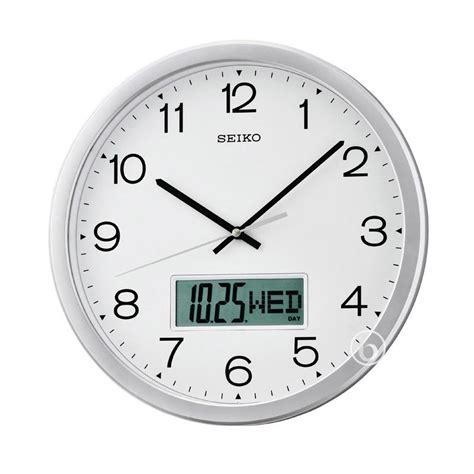 Harga Jam Dinding Digital Seiko by Seiko Clock Crane Silver Analog Digital Metallic Analog