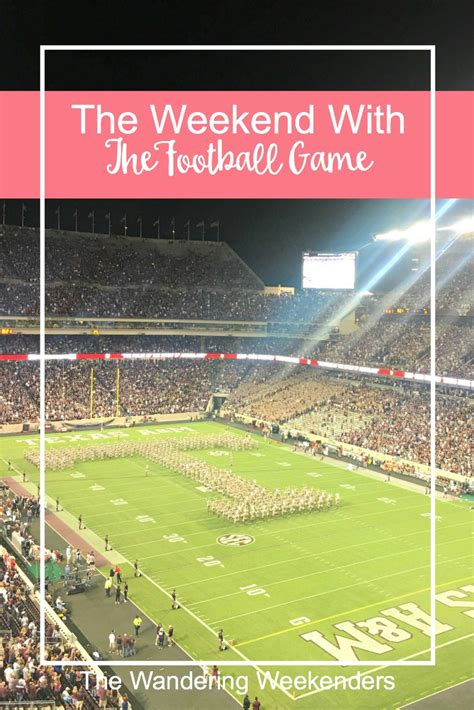 The Weekend With The Football Game - The Wandering Weekenders Loving Words For Husband