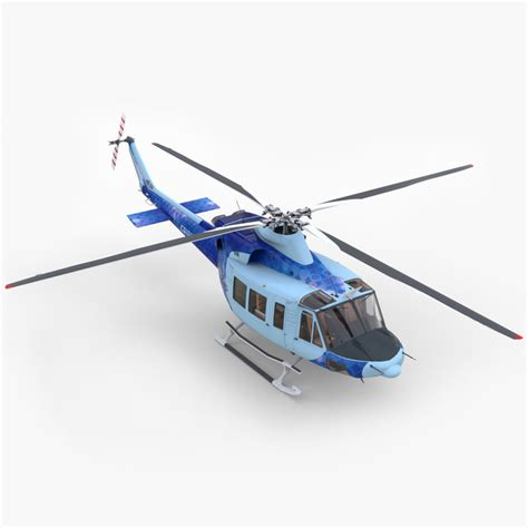 Heli Bell 412 Ep 3ds max bell 412 ep helicopter