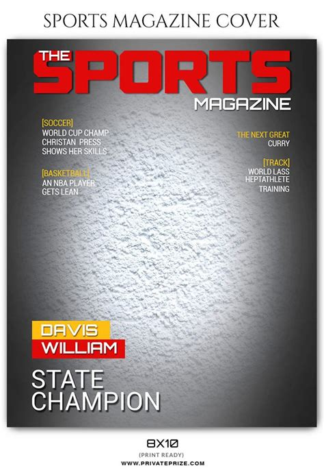 Davis Williams Football Sports Photography Magazine Cover Photoshop Magazine Cover Template