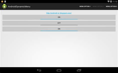 Will Android Stop Using Java by Android Er Enable Disable Menu Item Dynamically