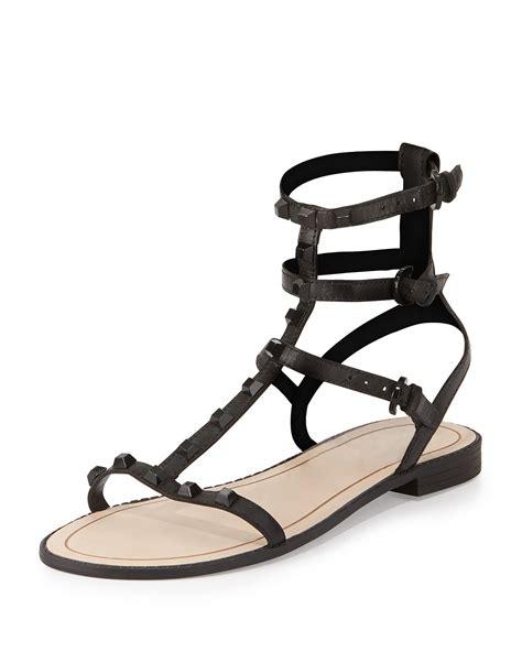 gladiator sandals black minkoff georgina studded gladiator sandal in black