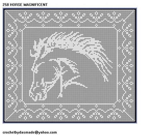 filet crochet patterns for home decor 258 horse magnificent filet crochet doily afghan pattern