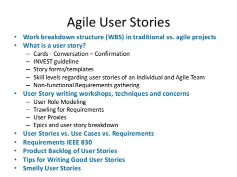 The Gallery For Gt Software Development Plan Template Sle Agile User Story Templates