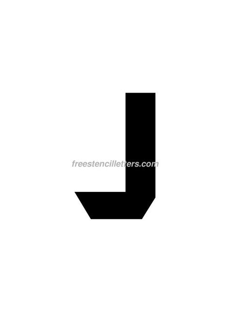 printable letter stencils 8 inch print 8 inch j letter stencil free stencil letters