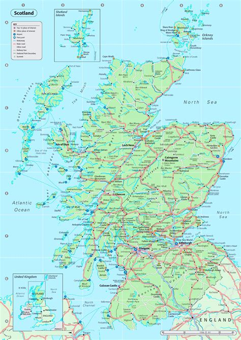 printable road maps uk map scotland roadmap of scotland scotland info guide