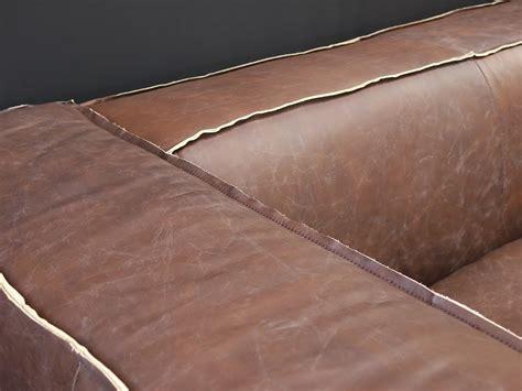 sofa 3 sitzer leder vintage echtleder sofa bugatti leder designsofa 2 sitzer