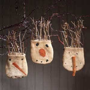 primitive snowball pocket ornaments