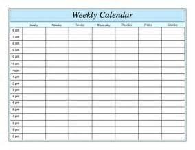 weekly calendar template doliquid