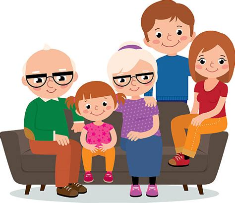 clipart nonni royalty free two generation family clip vector images
