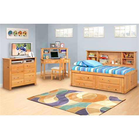 Room Saver by Trendwood Laguna Roomsaver Bed With Four Drawer