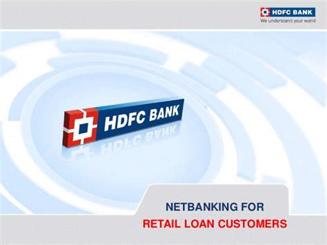 hdfc home loan login hdfc bank netbanking for retail loan