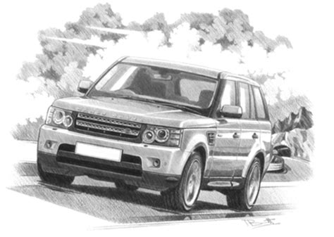 range rover sport drawing range rover sport personalised car prints