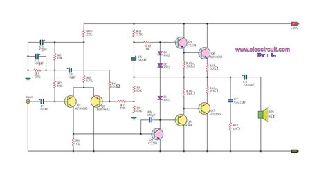 transistor in lifier circuit transistor 2n3055 power lifier otl 100w electronic circuit collection