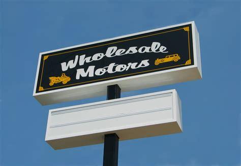 wholesale motors pole ground signs