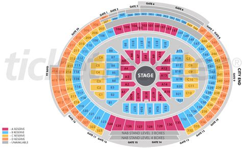 subiaco oval seating map 2 adele perth domain stadium subiaco floor b18 row b