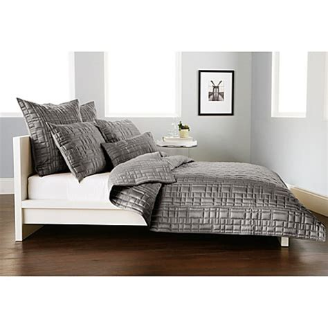 dkny coverlets quilts dkny city line quilt in grey bed bath beyond