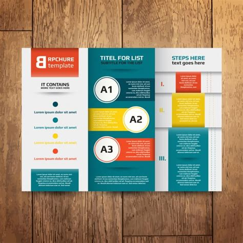 leaflet design ai brochure design template vector free download