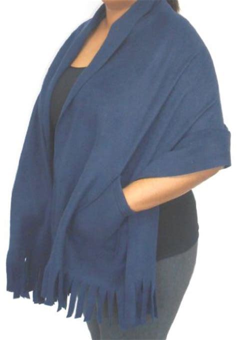 Pashmina Saudi 2 polar fleece fringed shawl wrap shoulder cozy with pockets 78 quot x 27 quot desertcart