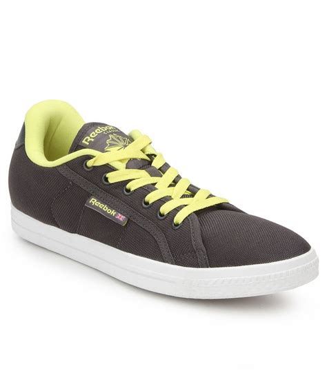 reebok on court v bd3440 gray canvas casual shoes