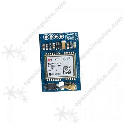 24mm X 6m ublox neo 6m gps receiver with integrated antenna open impulseopen impulse